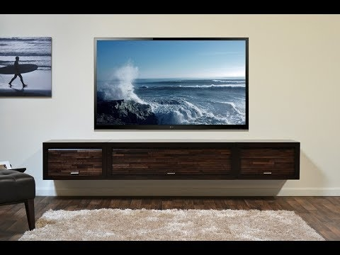 Great Unique Wall Mounted TV Stands With Shelves Intended For Wall Mount Tv Stand With Shelf Youtube (Image 31 of 50)