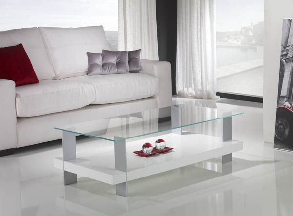 Great Unique White And Glass Coffee Tables Within White Glass Coffee Table (Image 22 of 40)