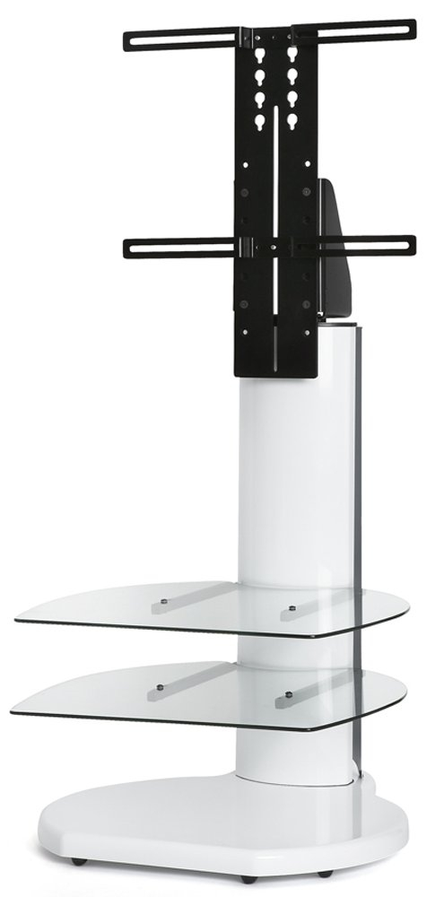 Great Variety Of Cantilever TV Stands Regarding Origin Ii S4 White Cantilever Tv Stand (Image 20 of 50)