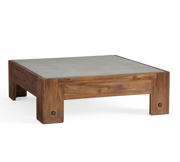 Great Variety Of Chunky Wood Coffee Tables Within Abbott Chunky Leg Coffee Table Pottery Barn (Image 24 of 50)