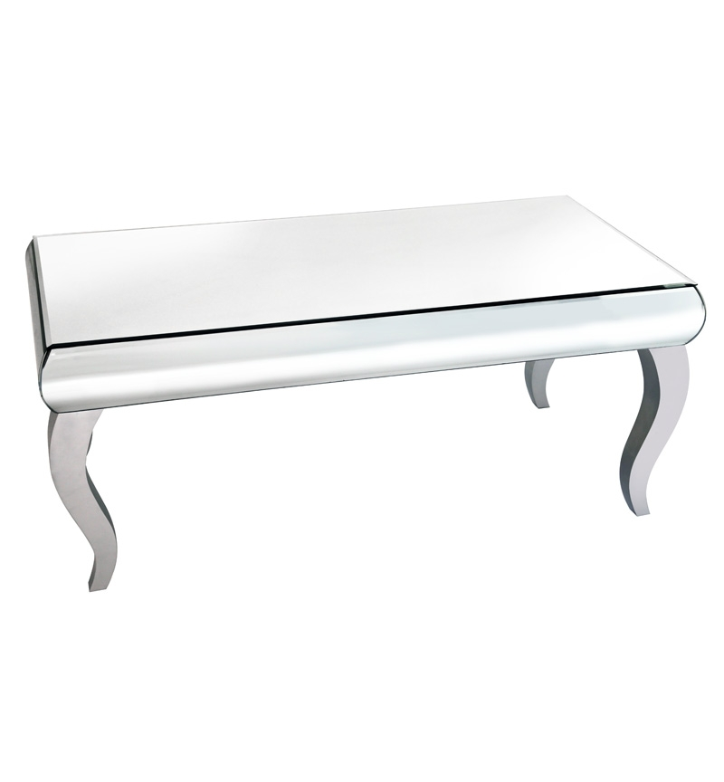 Great Variety Of Coffee Tables With Chrome Legs Pertaining To Curved Mirrored Coffee Table With Silver Chrome Legs Chic (Image 24 of 50)
