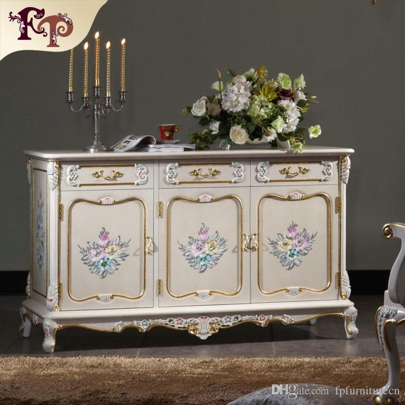 Great Variety Of French TV Cabinets For 2017 French Antique Furniture Baroque Handcraft Cracking Paint (Image 23 of 50)