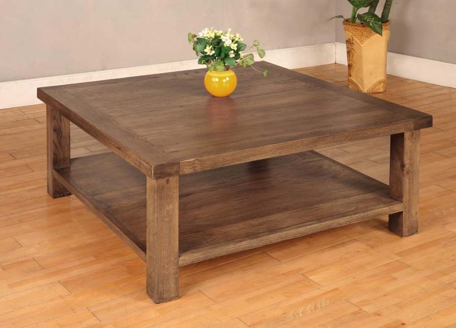 Great Variety Of Hardwood Coffee Tables With Storage Intended For Lovable Large Wood Coffee Table Large Wood 2 Storage Drawers (View 5 of 50)