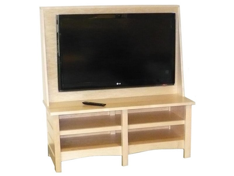 Great Variety Of Maple Wood TV Stands Regarding Natural Maple Clarks Mission Tv Stand Amish Clarks Tv Stand (View 2 of 50)