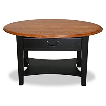 Great Variety Of Oval Wood Coffee Tables In Amazon Leick Furniture Oval Coffee Table Medium Oaktwo Tone (Image 29 of 50)