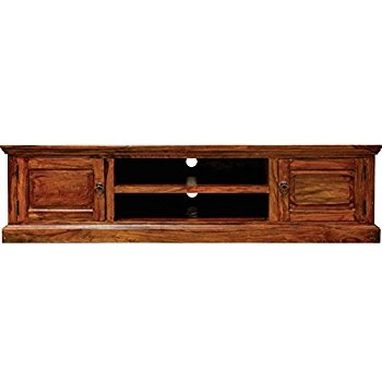 Great Variety Of Sheesham Wood TV Stands Inside Jali Solid Sheesham Indian Rosewood 2 Door Large Tv Cabinet (View 41 of 50)
