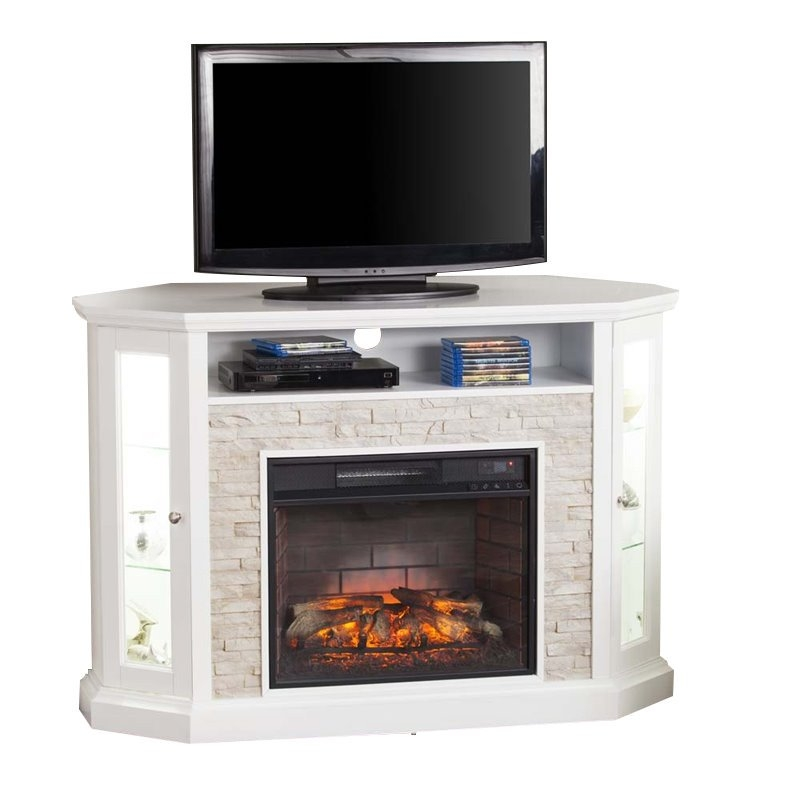 Great Variety Of Smoked Glass TV Stands Inside Fireplace Tv Stand Electric Fireplace Tv Stands Cymax (View 46 of 50)