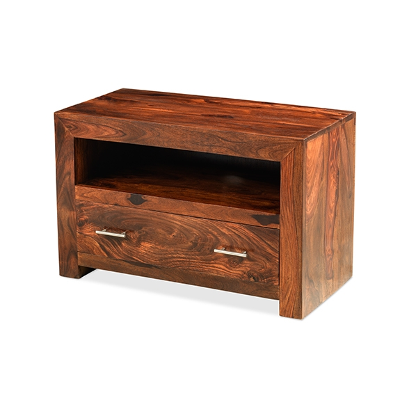 Great Variety Of Square TV Stands Inside Cuba Sheesham Square Tv Stand Lifestyle Furniture Uk (View 46 of 50)