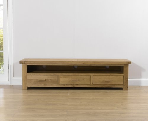Great Variety Of TV Stands In Oak Pertaining To Paris Solid Oak Large Tv Stand Amazoncouk Kitchen Home (Image 20 of 50)