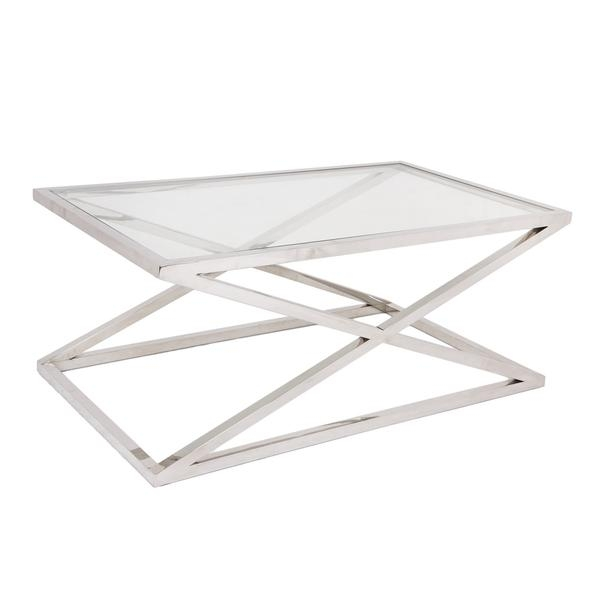 Great Variety Of White And Chrome Coffee Tables Within Chrome And Glass Coffee Table (Image 30 of 50)