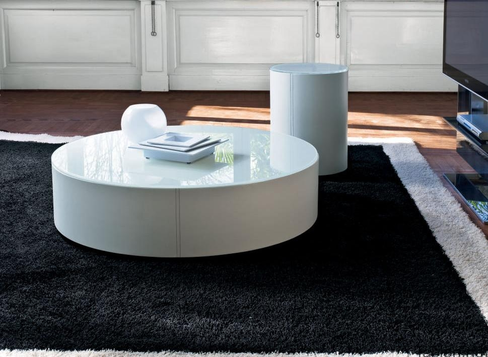 Great Variety Of White Circle Coffee Tables With Low Round Coffee Table (Image 19 of 50)
