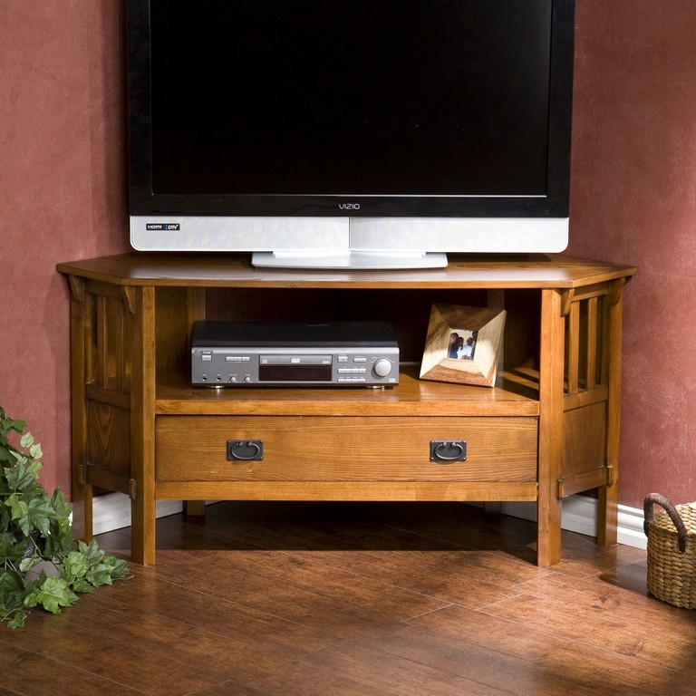 Great Variety Of White Wood Corner TV Stands Pertaining To Large Corner Tv Stand (Image 24 of 50)
