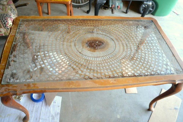 Great Well Known Antique Glass Coffee Tables With Regard To An Antique Coffee Table Redo (Image 20 of 40)