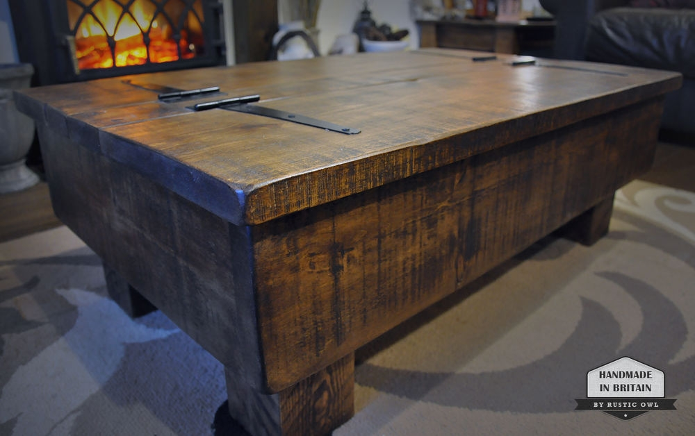 Great Wellknown Antique Rustic Coffee Tables Within Kitchen Best Very Large Antique 19th Century Rustic Teak Coffee (Image 29 of 50)