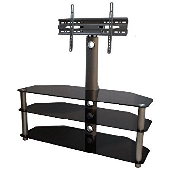 Great Well Known Cantilever TV Stands Within Mountright Cantilever Glass Tv Stand For Up To 60 Inch Amazonco (Image 23 of 50)