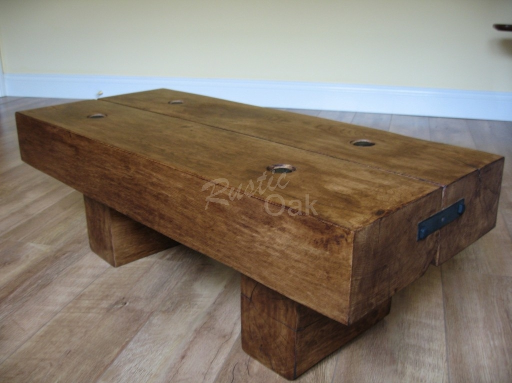 Great Wellknown Cheap Oak Coffee Tables Regarding Coffee Table Rustic Oak Coffee Tables Beam Coffee Table With (View 44 of 50)