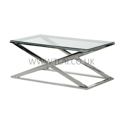 Great Wellknown Chrome Coffee Tables Throughout Furniture Cool Glass Chrome Coffee Table Designs Contemporary (Image 23 of 50)