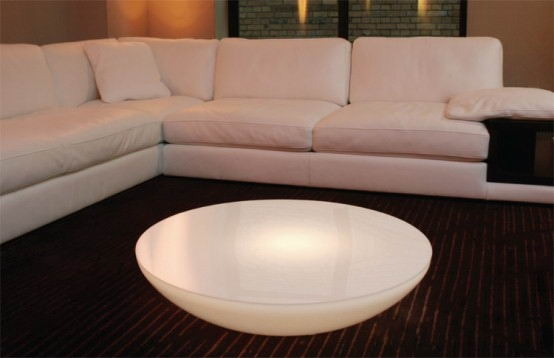 Great Wellknown Coffee Tables With Oval Shape Inside Oval Shaped Led Table Furniture Arcade House Furniture Living (View 42 of 50)