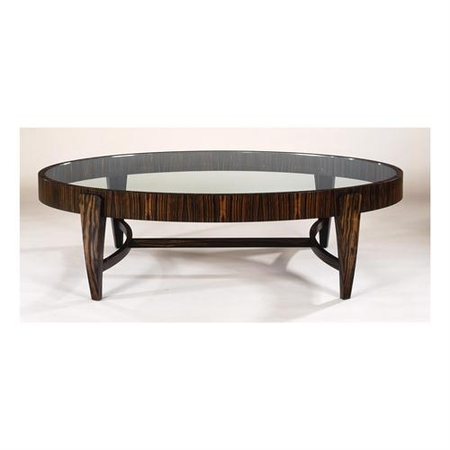 Great Well Known Coffee Tables With Oval Shape With Regard To Tusk Oval Coffee Table Glass Top From Gregg Lipton (View 12 of 50)