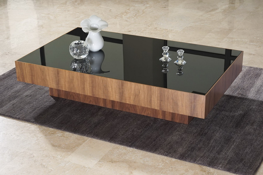 Great Well Known Dark Wood Coffee Tables With Glass Top For Cool Black Glass Coffee Table (Image 21 of 50)
