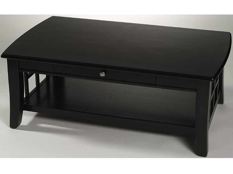 Great Well Known Dark Wooden Coffee Tables With Regard To Black Wood Coffee Table (Image 24 of 50)