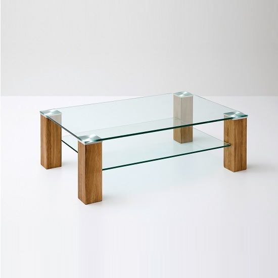 Great Wellknown Glass And Oak Coffee Tables Within Snowdon Glass Coffee Table Rectangular In Clear And Knotty (Image 28 of 50)