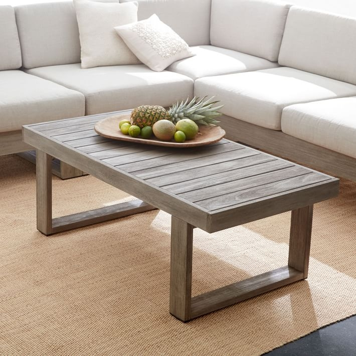 Great Wellknown Gray Wood Coffee Tables For Portside Coffee Table Weathered Gray West Elm (Image 22 of 50)