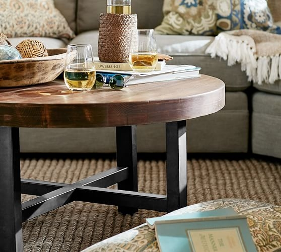 Great Well Known Griffin Coffee Tables With Regard To Griffin Round Coffee Table Pottery Barn (View 15 of 50)