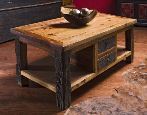 Great Wellknown Large Low Rustic Coffee Tables Throughout Coffee Tables Low Prices Reclaimed Wood Lodge Cabin Rustic Room (Image 19 of 50)