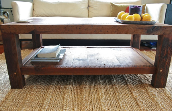 Great Wellknown Large Rectangular Coffee Tables Pertaining To Large Rustic Coffee Table Doorman Designs (Image 24 of 40)