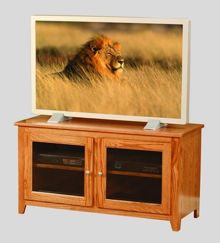 Great Well Known Light Cherry TV Stands Regarding Amish Made Tv Stands From Dutchcrafters Amish Furniture (Image 32 of 50)