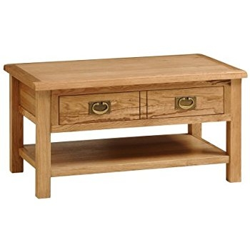 Great Wellknown Light Oak Coffee Tables With Drawers With Regard To Lanner Oak Coffee Table Amazoncouk Kitchen Home (View 33 of 40)