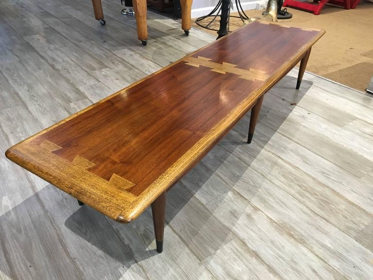 Great Wellknown Long Coffee Tables Inside Extra Long Lane Dovetail Coffee Table For Sale At 1stdibs (Image 22 of 50)