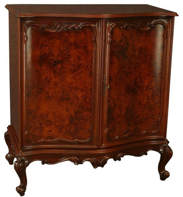 Great Wellknown Mahogany TV Stands For New Rococo Media Tv Cabinet Burled Mahogany (Image 30 of 50)