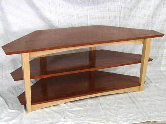 Great Wellknown Maple TV Stands In Larry Couture Designs Bubinga And Maple Tv Stand Custom Studio (View 15 of 50)