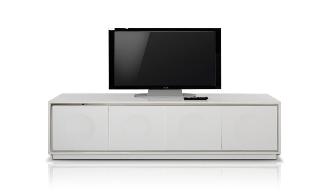 Great Wellknown Modern White TV Stands Intended For Ax Grand Modern White Crocodile Lacquer Tv Stand (Image 26 of 50)