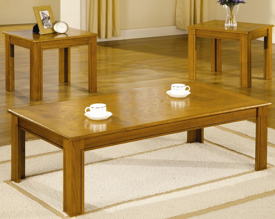 Great Wellknown Oak Coffee Table Sets Regarding Oak Coffee Tables (Image 26 of 50)