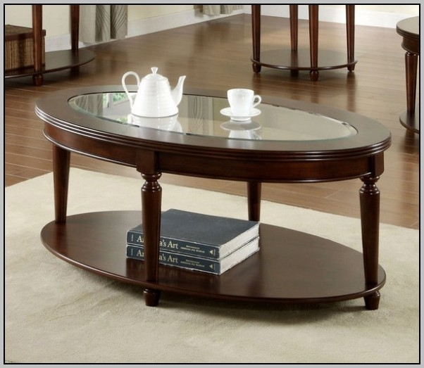 Great Wellknown Oval Shaped Glass Coffee Tables Pertaining To Oval Shaped Glass Coffee Tables Coffee Table Home Decorating (Image 26 of 50)