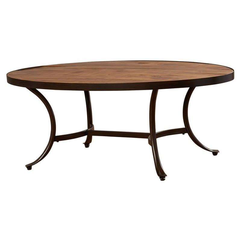 Great Wellknown Oval Wood Coffee Tables With Regard To Mercury Row Ceres Oval Coffee Table Reviews Wayfair (Image 30 of 50)