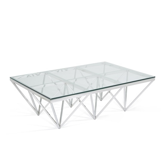 Great Wellknown Rectangle Glass Coffee Table With Stirling Rectangular Glass Coffee Table Polished Stainless (View 39 of 50)