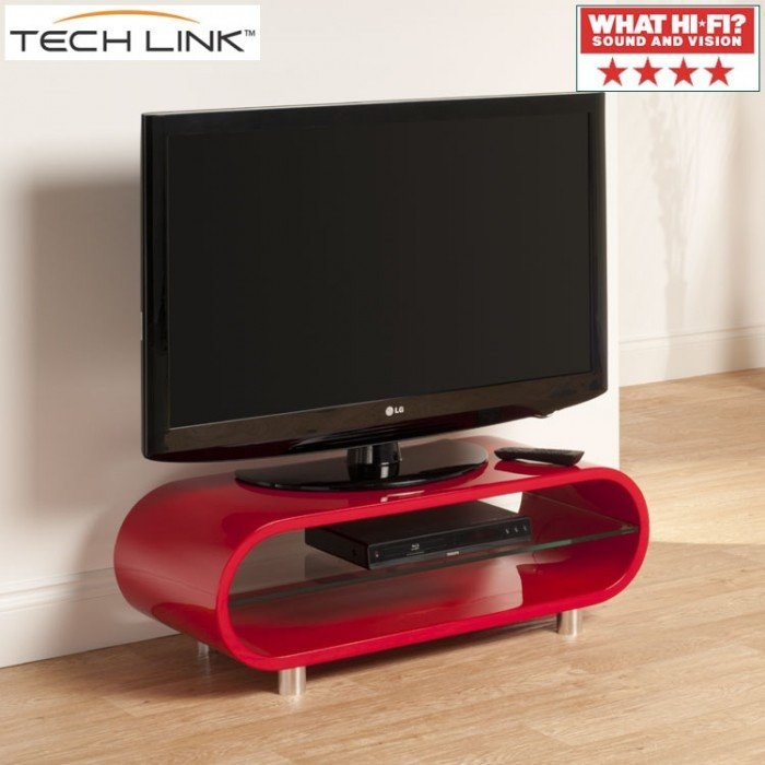 Great Wellknown Red Gloss TV Stands In Techlink Ovid Ov95r Gloss Red Tv Stand (View 26 of 50)