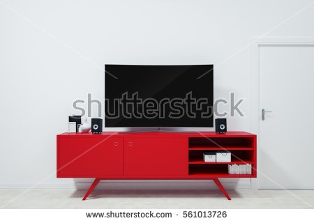 Great Wellknown Red TV Stands In Tv Stand Stock Images Royalty Free Images Vectors Shutterstock (Image 23 of 50)