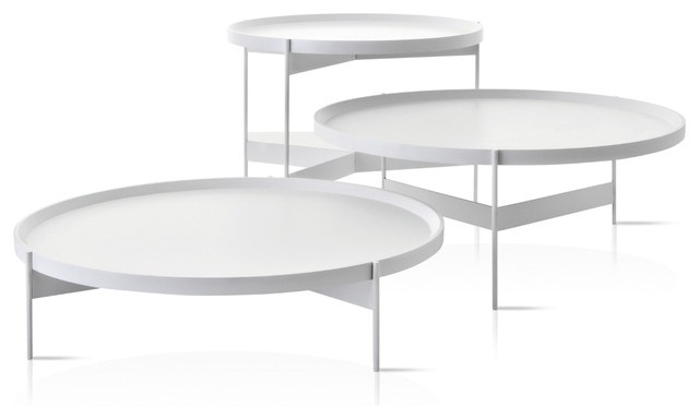 Great Well Known Round Coffee Table Trays For Modern White Round Coffee Table Table And Estate (Image 27 of 50)