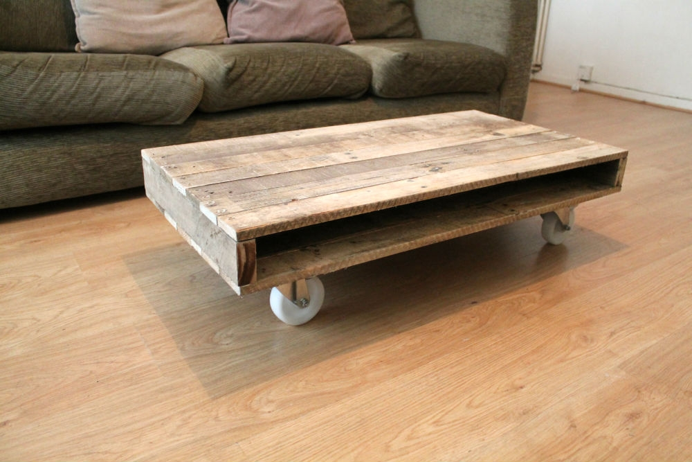 Great Well Known Rustic Coffee Table With Wheels Pertaining To Rustic Coffee Table With Wheels (Image 24 of 50)