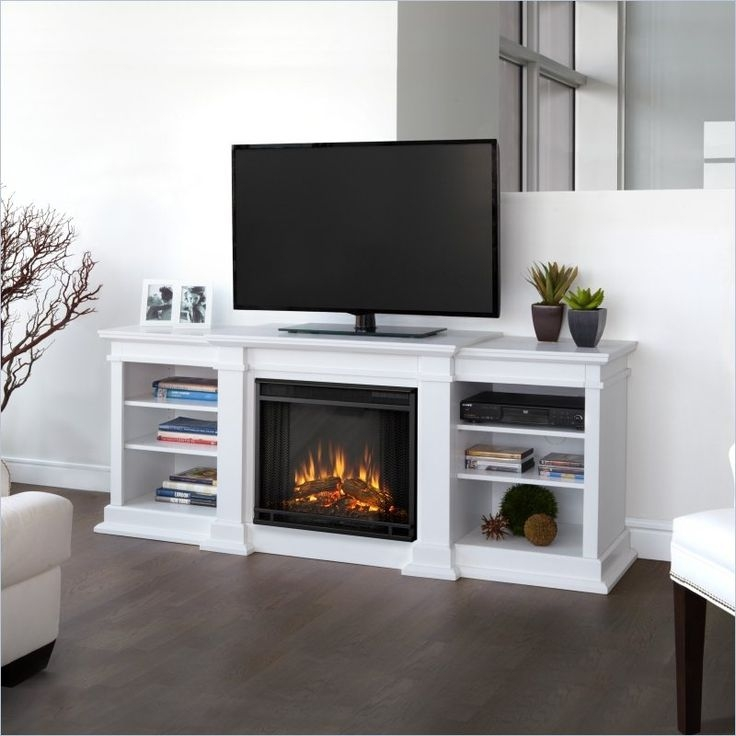 Great Wellknown Rustic White TV Stands With Best 25 Electric Fireplace Tv Stand Ideas On Pinterest (Image 27 of 50)