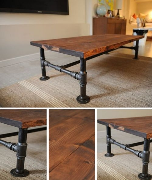 Great Well Known Rustic Wood DIY Coffee Tables Pertaining To Best 25 Coffee Table With Wheels Ideas On Pinterest Industrial (Image 23 of 50)