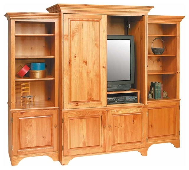 Great Wellknown Solid Pine TV Stands With Shaker Unfinished Pine Tv Stands Entertainment Center Solid (View 44 of 50)