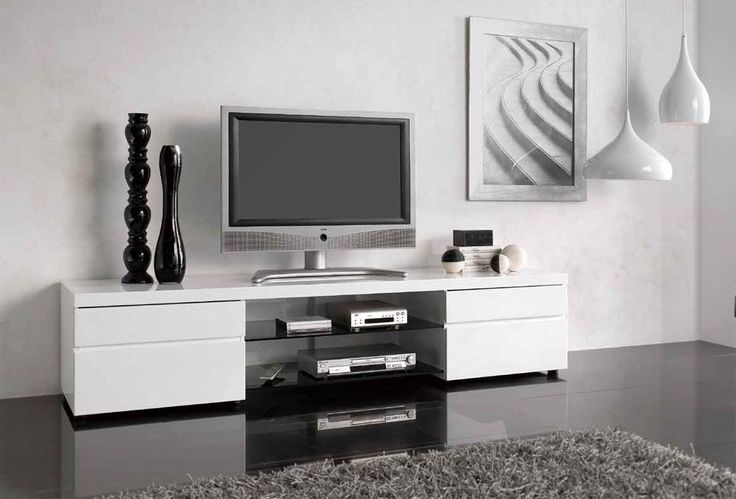 Great Well Known White Contemporary TV Stands Regarding This Modern Tv Stand Will Not Leave You And Your Guests (Image 20 of 50)