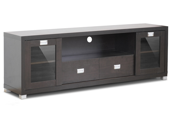 Great Well Known Wooden TV Cabinets With Glass Doors For Baxton Studio Modern Tv Stands (Image 31 of 50)