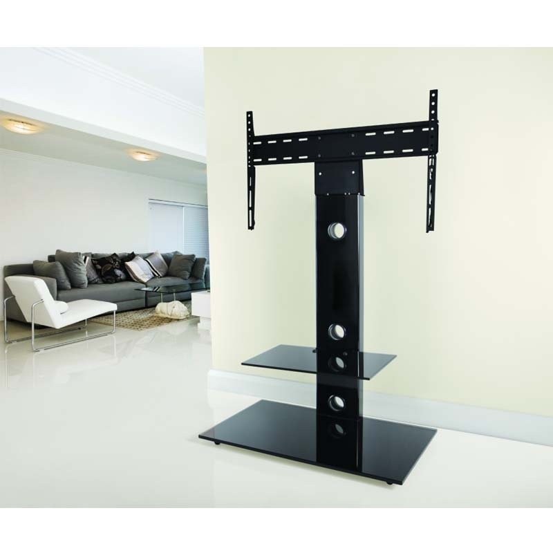 Great Wellliked 32 Inch TV Stands With Regard To Avf Lesina 32 To 55 Inch Tv Stand With Attached Mount Black (Image 21 of 50)
